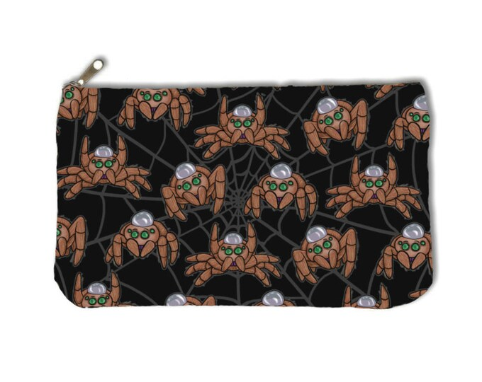Jumping Spiders Zipper Pouch