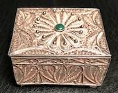 Peruvian Sterling Silver filagree pill jewelry box