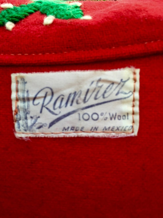 Red Mexican Vintage Tourist jacket - image 3