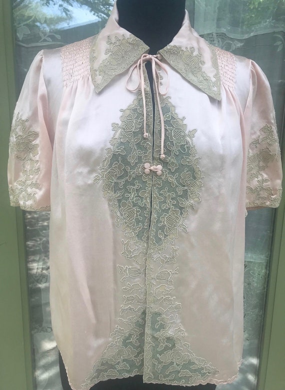 Exquisite Chinese Vintage Bed Jacket