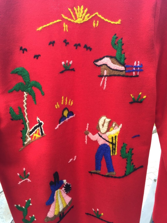 Red Mexican Vintage Tourist jacket - image 1