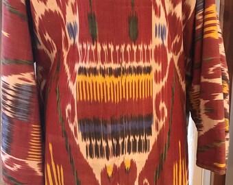 Vintage Ikat Robe from Uzbekistan