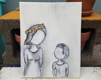 Together Custom Charcoal Family Portaits