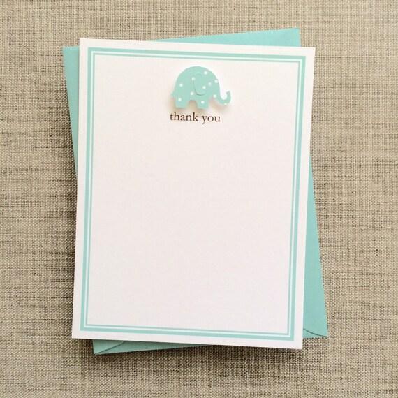 Baby Boy Elephant Baby Shower Thank You Cards Boy Elephant Etsy