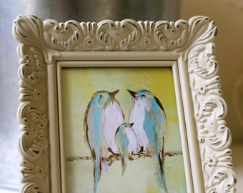 Wee sized framed print (Our Lemon Chiffon Sky)