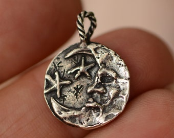 Artisan Moon and Stars in Sterling Silver, SS-889