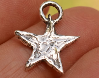 Artisan Star Charm in Sterling Silver, CH-93 (ONE)