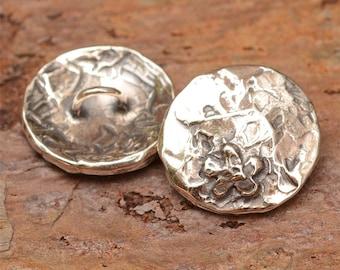 Artisan Sterling Silver Flower Button for Wrap Style Bracelets,B-286