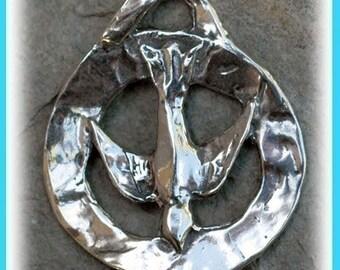 Sterling Silver PEACE Dove Pendant