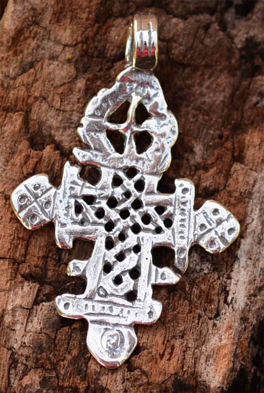 Ethiopian Cross in Sterling Silver, R-295 photo