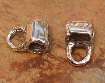 Tube Bead with Bail in Sterling Silver, FN-445 (ONE)