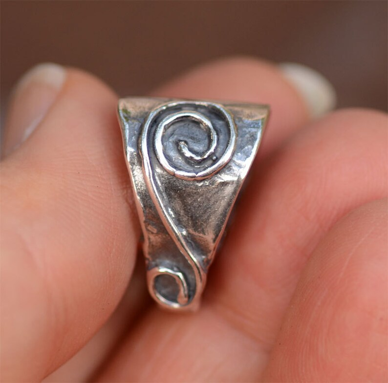 Large Artisan Bail with Spiral in Sterling Silver Necklace Enhancer PX-B10