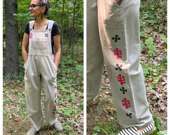 Vintage Garden Overalls - Size L-XL (or smaller with a baggy fit) One of a Kind Vintage Chic Bibs