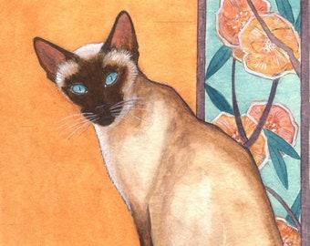 Siamese cat print from my original painting