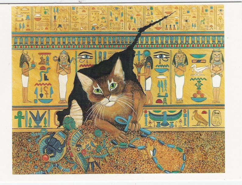 Reserved for Val Egyptologist Cat Art Print