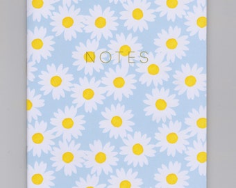 A5 Notebook - Daisy - with Plain or Lined Pages