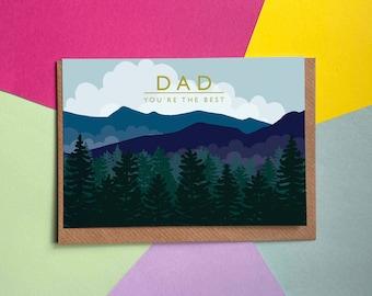 Dad - Mountains   Greetings Card