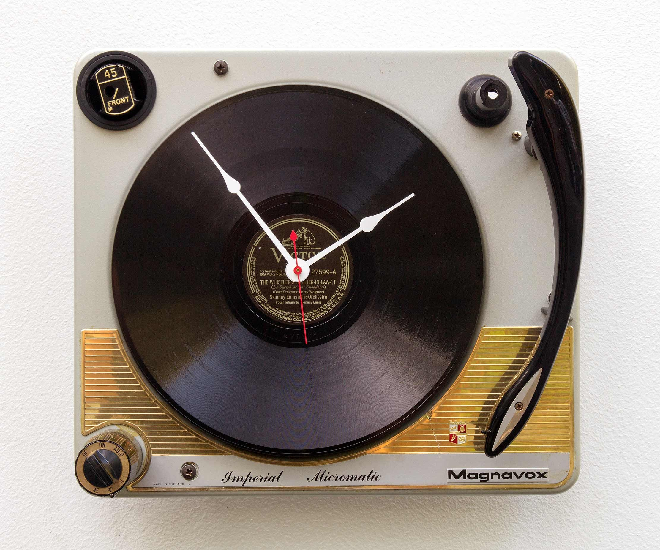 Recycled Turntable Clock, Record player clock, record album clock, music  lover clock, Art Clock, upcycled large wall clock, vintage LP vinyl