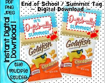 Goldfish cracker tag Etsy