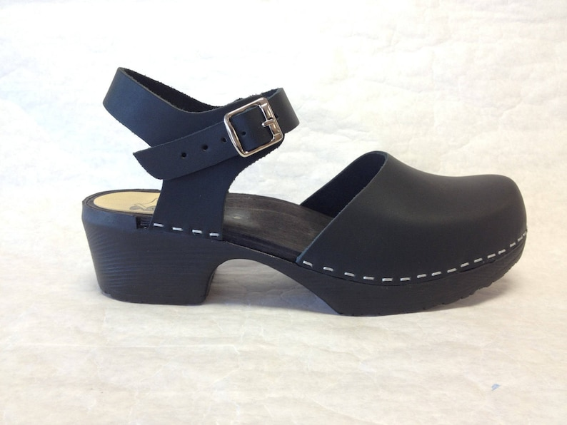 Design your Own Mary jane with buckle ankle strap on a black image 0