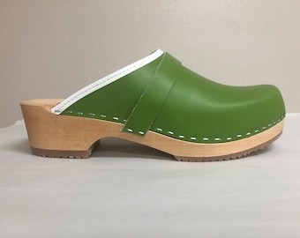 Nora LH // Lime green classic low heel clog *as seen in Better Homes and Gardens and Ciburbanity