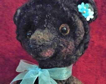 Artists Handmade Needle Felted Bear