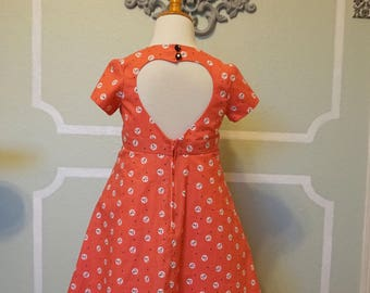 Coral Pink Girl's Sweetheart Dress sz 5/6