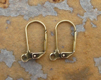 Antique Gold Large Leverback Earwires