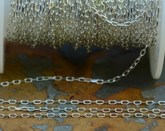 Small Delicate Cable 3x1.5mm Chain Sterling Silver