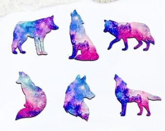2 PCS Wolf Dog Animal Silver Tone Charm Pendant C1661
