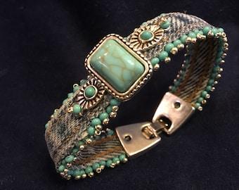 Southwest Denim Bracelet