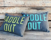 Bundle of 2 OUTDOOR/INDOOR Pillows / Paddle Out Pillow / Surf Decor / Surf Pillow / Beach House Decor / Coastal Living / Outdoor Decor