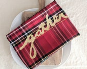 Plaid Cloth Napkins / Gather Napkins / Plaid Table Setting