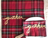 Thanksgiving Cloth Napkins / Thanksgiving Table Setting