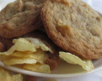 2 Dz Potato Chip Cookies with Butterscotch Chips Sweet and Salty