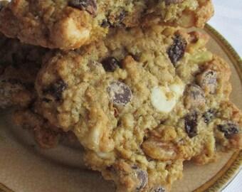 12 (One Dozen)Big Oatmeal Explosion Cookies