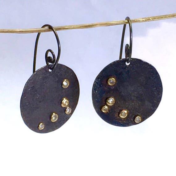 Starry Night .25ctw Diamond Disc Earrings