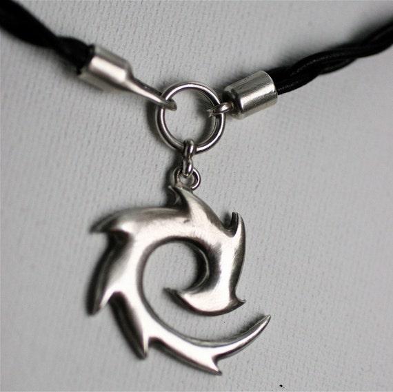 Sterling Whirling Dervish Pendant Necklace