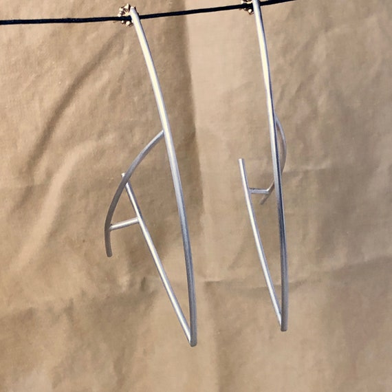Anti-Hoop Earrings in Sterling 925 Silver + 14k Posts Backs