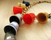 Vintage Thimble Necklace