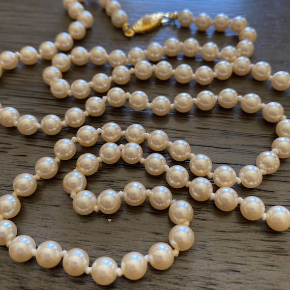Vintage Japan Faux Pearl Beaded Necklace, Beaded F