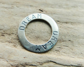 Sterling Silver Dream Hoop Supply, Metal Jewelry Supply Hoop Sterling Silver, Dream Pendant