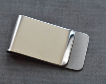 Silver Money Clip in 925 Silver perfect for gift Handmade Rounded Version special surface effect