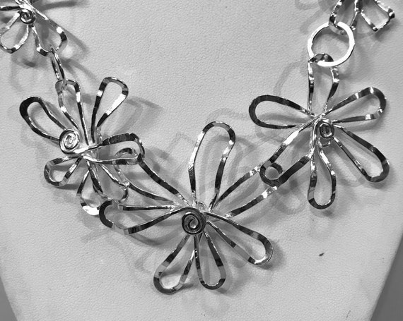 Cherry Blossom Statement Necklace 3 flower