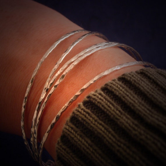 One Bangle Bracelet Sterling Silver