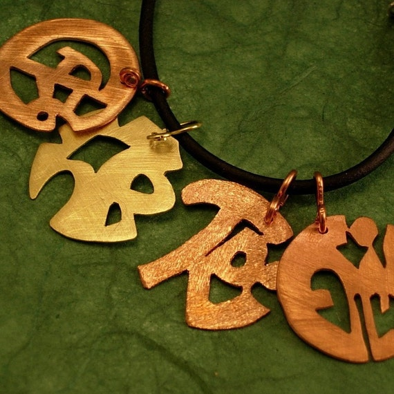 Design Charm Pendant COPPER OR BRASS