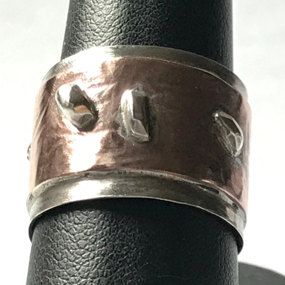 Cuff Ring of Sterling Silver and Copper