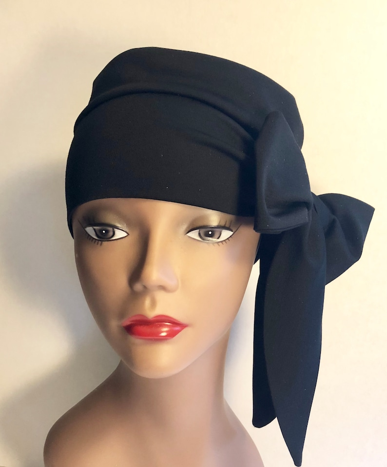 Side Tie Knit Hat Womens Hat Gifts For Her Chemotherapy image 0