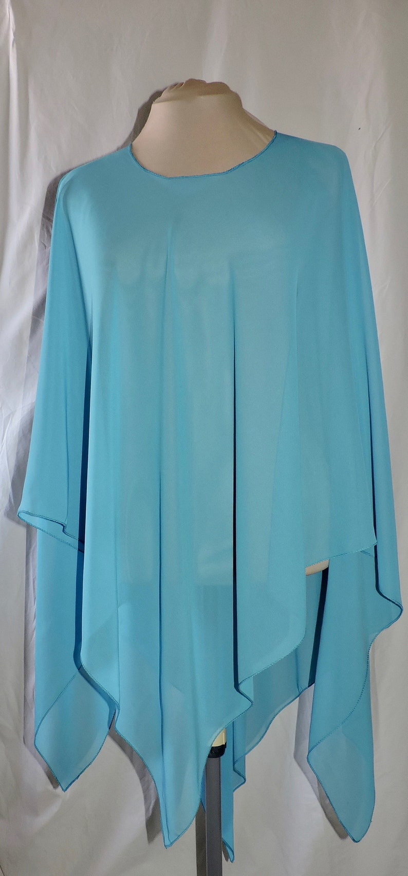 Turquoise Poncho Women One Piece-Ten  Looks Upscale Womens image 0