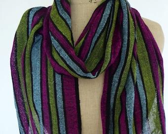 Handwoven Extra Fine Gauzy Silk Summer Scarf